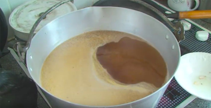 syrup on the boil