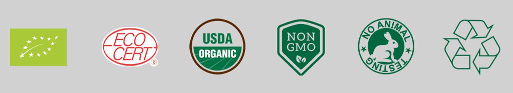 Organic certification logos
