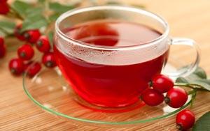 rosehip tea in see thru cup