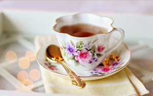 rosehip tea in old fashioned cup